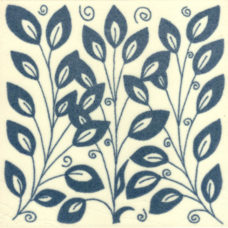 William De Morgan Vertical Leaf Tile (ST019)