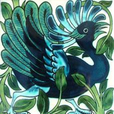 William De Morgan Fantastic Bird Tile (A/B) (ST022)