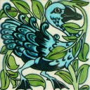 William De Morgan Fantastic Duck Tile (A/B) (ST023)