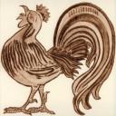 William De Morgan Cockerel Animal Tile (A/B) (ST025)