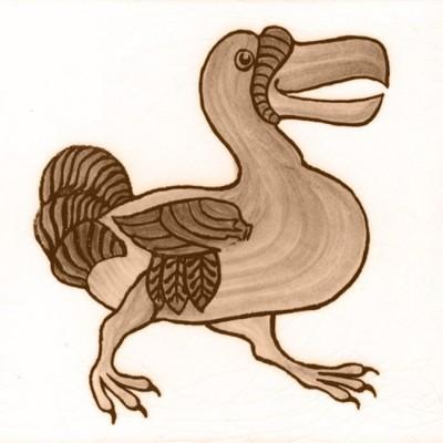 William De Morgan Dodo Animal Tile