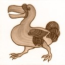William De Morgan Dodo Animal Tile (A/B) (ST026)