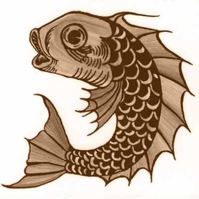 William De Morgan Fish Animal Tile (A/B) (ST027)