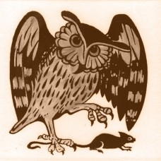William De Morgan Owl Animal Tile (A/B) (ST029)