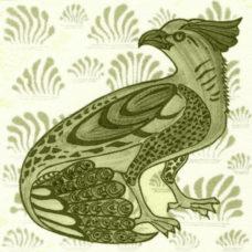 William De Morgan Ornate Bird Tile (A/B) (ST031)