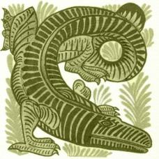 William De Morgan Crocodile Tile (A/B) (ST033)