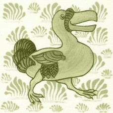 William De Morgan Grass Dodo Tile (A/B) (ST034)