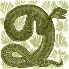 William De Morgan Animal Snake Tile (A/B) (ST040)