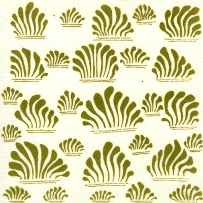 William De Morgan Grass Tile