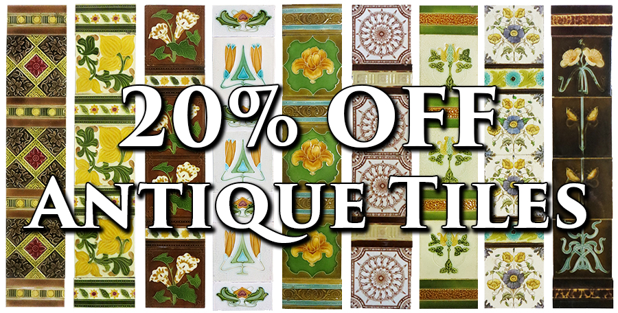 Get 20% off any of our Original Antique Fireplace Tiles