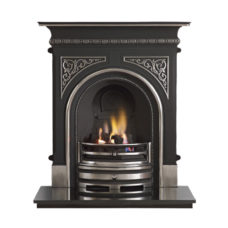 GAL018 - Celtic Cast Iron Combination Fireplace