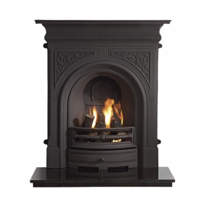 The Celtic Cast Iron Combination Fireplace