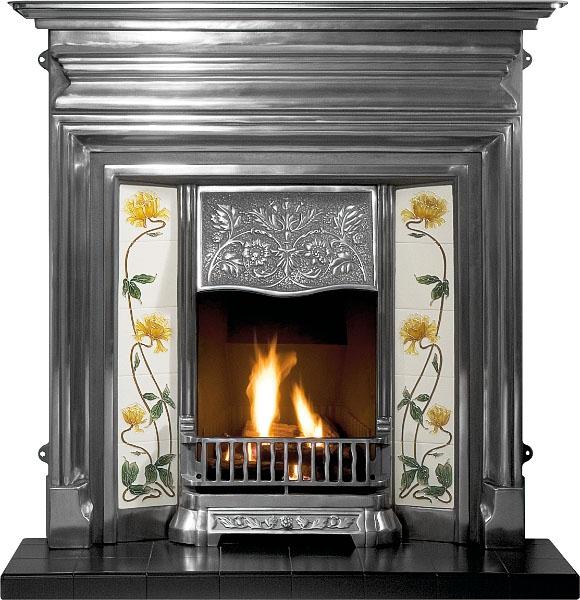 "Edwardian Cast Iron bination Fireplace 48"" Victorian"