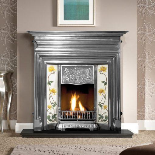 Edwardian Cast Iron Combination Fireplace