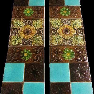 OT205 - Original Embossed Modern Fireplace Tiles