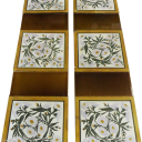 OT211 - Soft Elegant Floral Fireplace Tiles