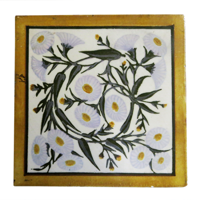 OT211 - Soft Elegant Floral Fireplace Tiles