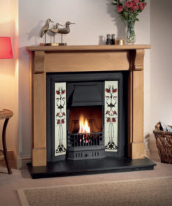 The Prince Cast Iron Tiled Fireplace Insert