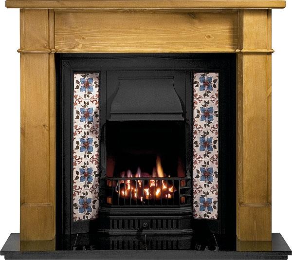 "Victorian Fireplace: Sovereign Cast Iron Insert Fireplace (37"")"