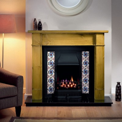 The Sovereign Cast Iron Tiled Fireplace Insert