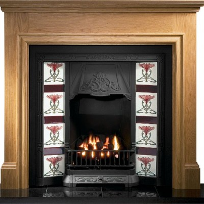 GAL014 - Toulouse Cast Iron Insert Fireplace