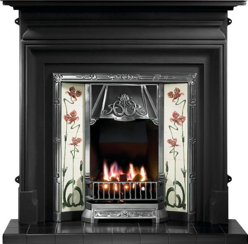 The Toulouse Cast Iron Tiled Fireplace Insert