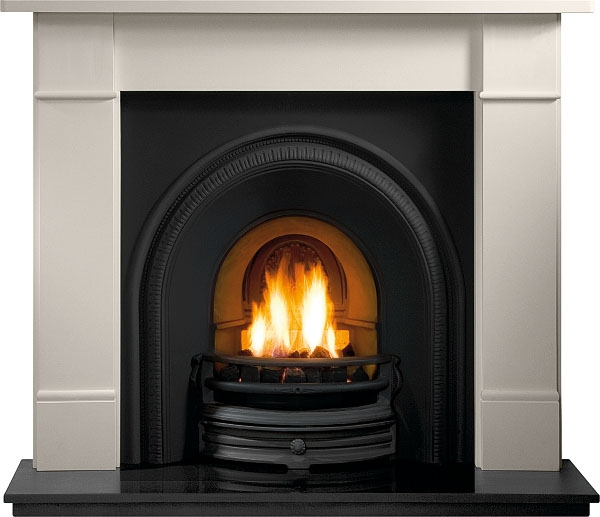 Tradition Cast Iron Fireplace Insert, Cast Iron Wood Stove Fireplace Inserts