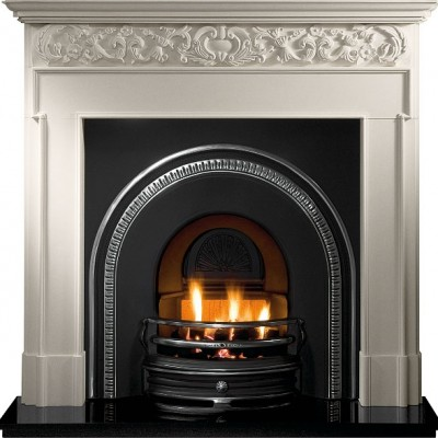 The Tradition Cast Iron Fireplace Insert