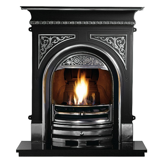 Tregaron cast iron combination fireplace victorian