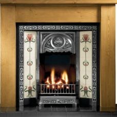 GAL015 - Tulip Cast Iron Insert Fireplace