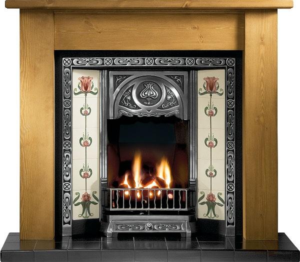 Tulip Cast Iron Insert Fireplace Victorian Fireplace Store