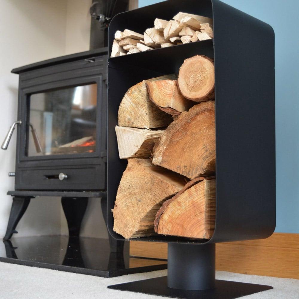Manor Nordic Log Holder Black Victorian Fireplace Store