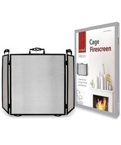 De Vielle 3 Fold Classic Fire Cage (Black)