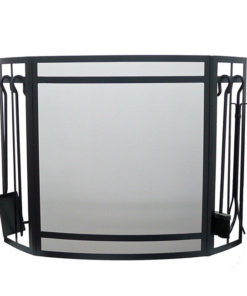 Gallery Sentry Fire Screen & Companion Set (Black)