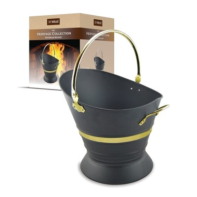 Heritage Waterloo Bucket with Steel/Brass Trim