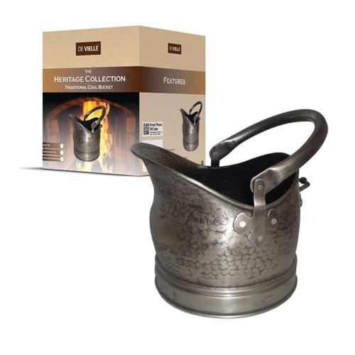 Heritage Traditional Pewter Coal Bucket