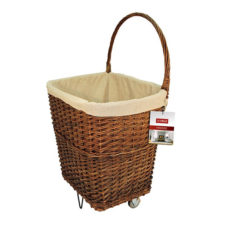 Large Wicker Carts (Set of 2)
