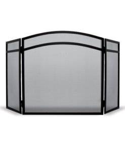 De Vielle 3 Fold Classic Fire Screen (Black)