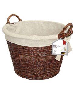 De Vielle Round Wicker Basket (Jute Liner)