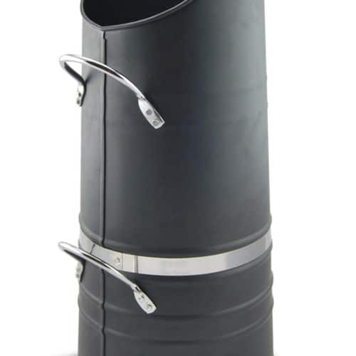 De Vielle Heritage Coal Hod With Stainless Steel Trim (Black)