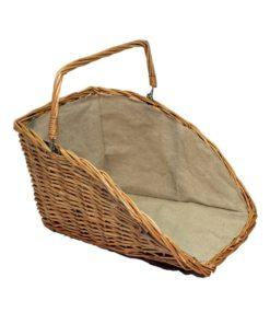 De Vielle Natural High Backed Log Basket