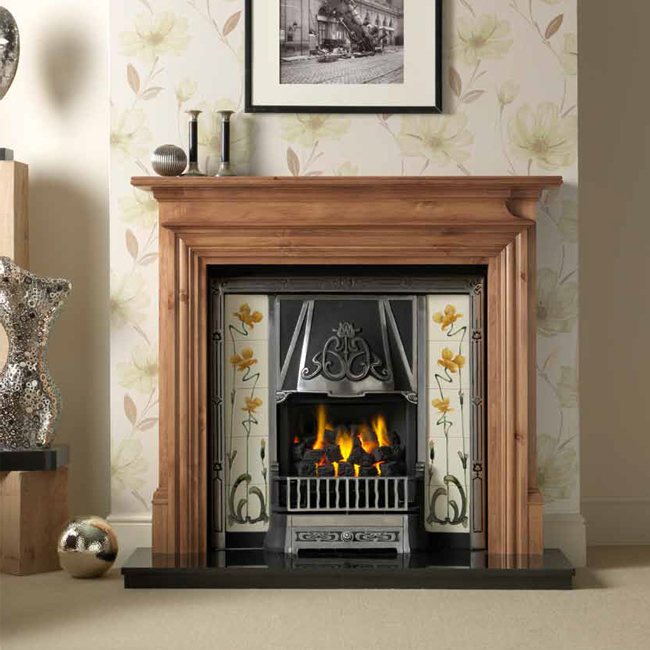 Wooden Fireplace: Danesbury Wooden Fireplace Surround (Pine)