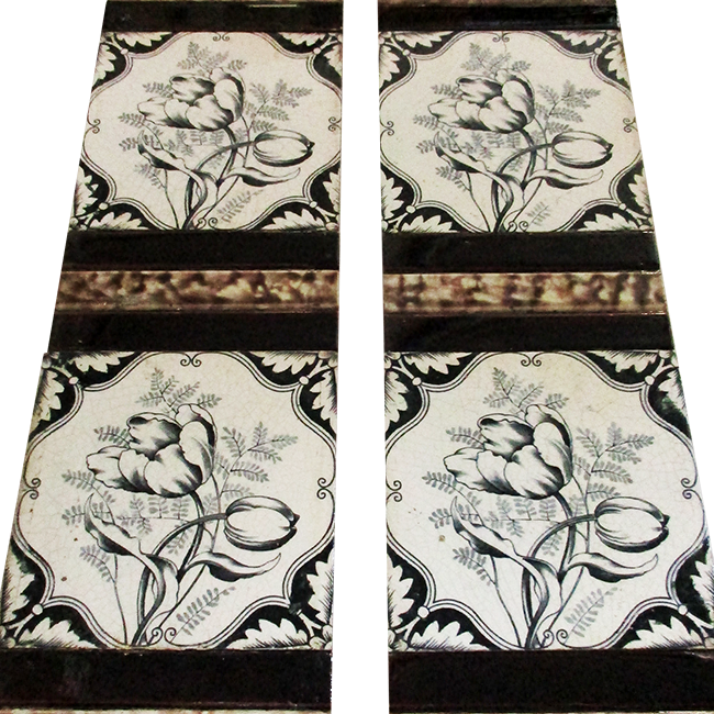 Buy Antique Hand Painted Fireplace Tiles