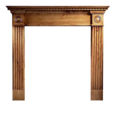 GAL052 - Roundel Wooden Fireplace Surround (Solid Pine)