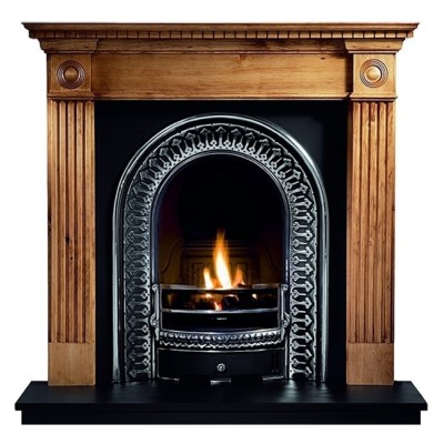 The Roundel Wooden Fireplace Surround