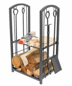 Manor Log Station Companion Set (Black)