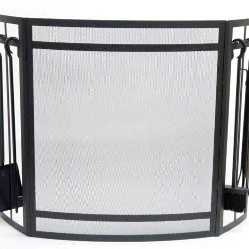 Gallery Sentry Fire Screen & Companion Set (Black)