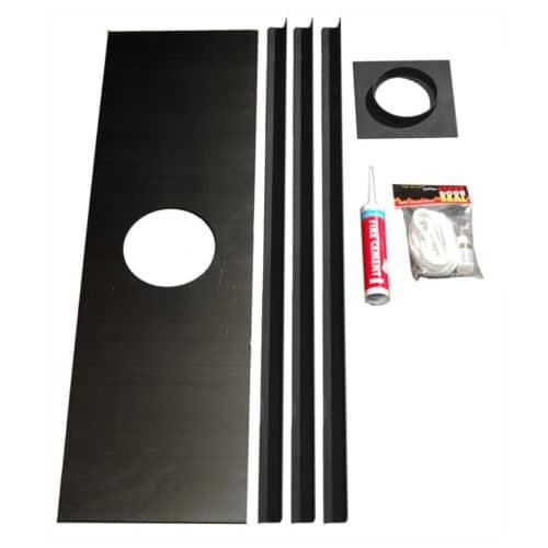 """Stove Register Plate Fixing Kit (5""""/6"""") (Black)"""