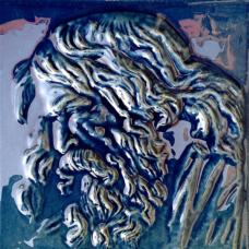 Blue Retropolitan Zeus Fireplace Tile (ST043)