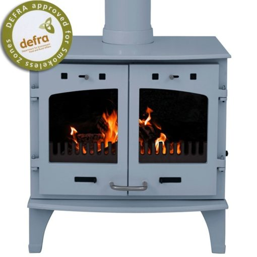 Freestanding China Blue Enamel 11kW Carron Multi Fuel Stove